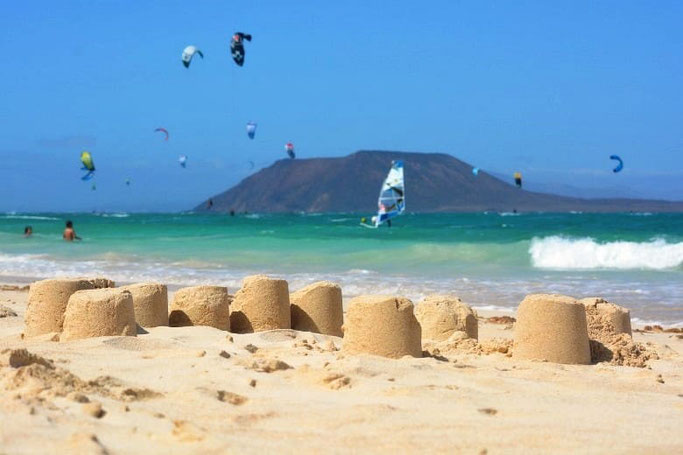 Kanaren Fuerteventura Corralejo Strand