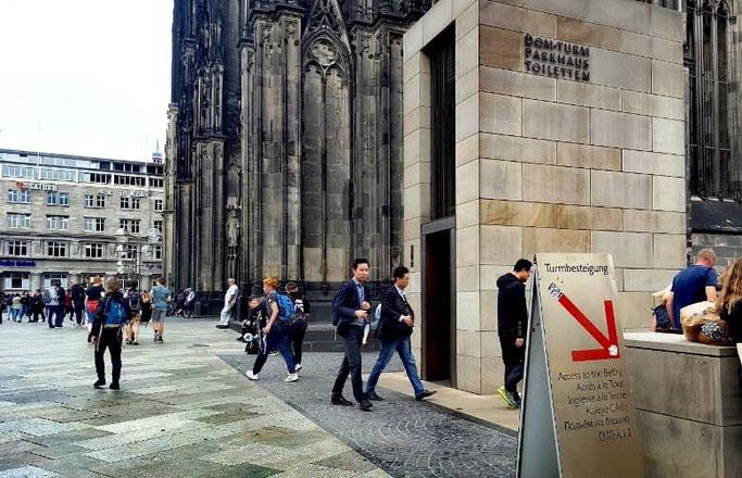 Köln Dom Turm besteigen
