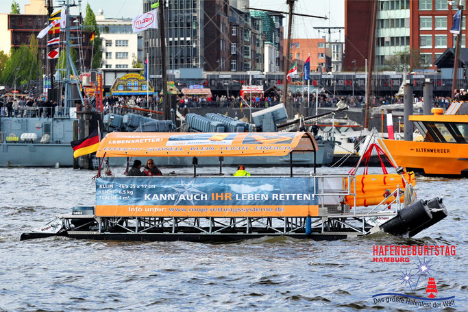 Der Rettungslift live beim Hafengeburtstag Hamburg
