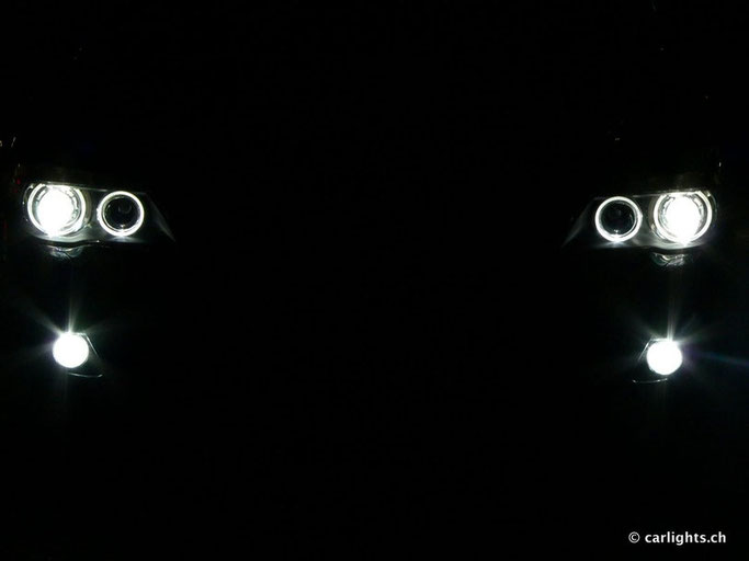 BMW LED angel eyes MIT LED Nebellicht