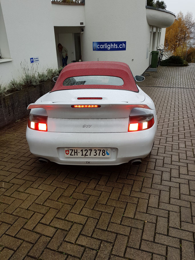 Porsche 911 Jg 1998 LED Umbau Rückfahrlicht LED P21W Bremslicht P21/5W