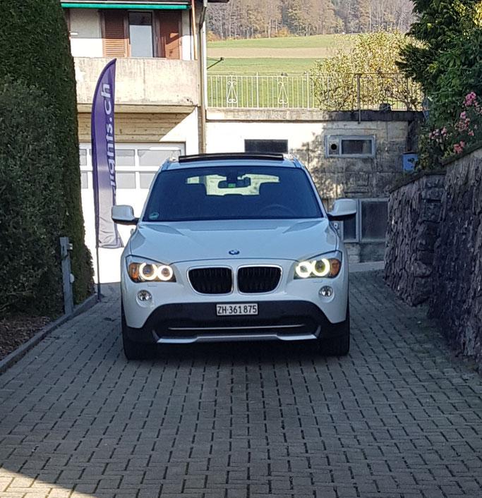 BMW X1 LED UMBAU ANGEL EYES H8 WEISS