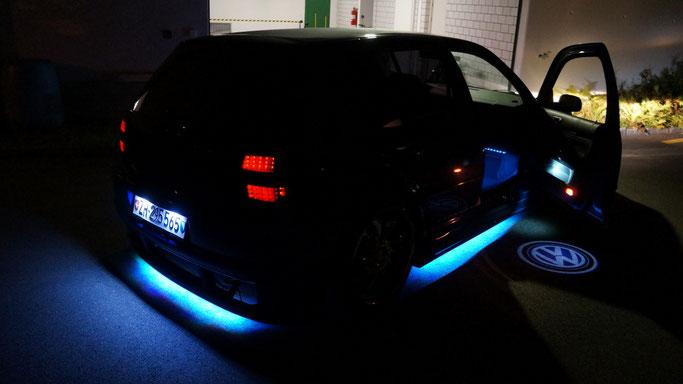 VW LED umbau Unterbodenbeleuchtung Logo