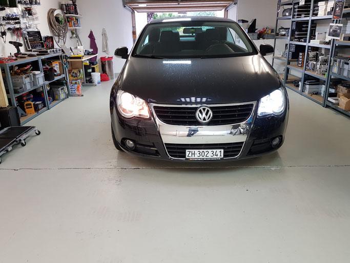 VW LED umbau Abblendlicht Unterschied Halogen
