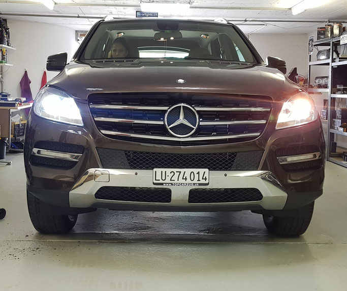 MERCEDES ML LED ABBLENDLICHT UNTERSCHIED HALOGEN LED
