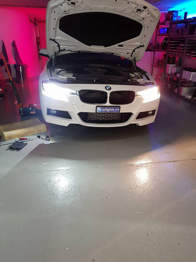 BMW F31 rechts Halogen vs Links LED Philips X-Treme Ultinon