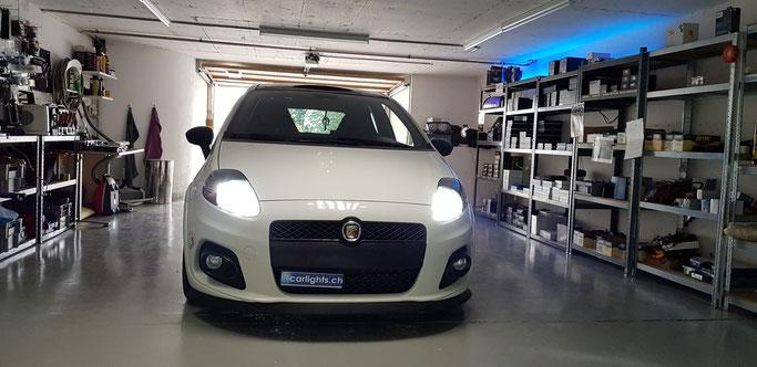 FIAT Punto Abarth LED Umbau H7 Philips Xtreme Ultinon