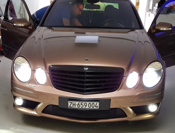 MERCEDES AMG E63 LED Komplett Nebel, Rückfahrlicht, Kennzeichenbeleuchtung, Innenraum
