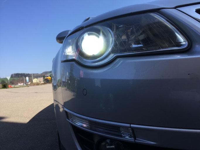 VW PASSAT LED UMBAU H7 CARLIGHTS NACHHER