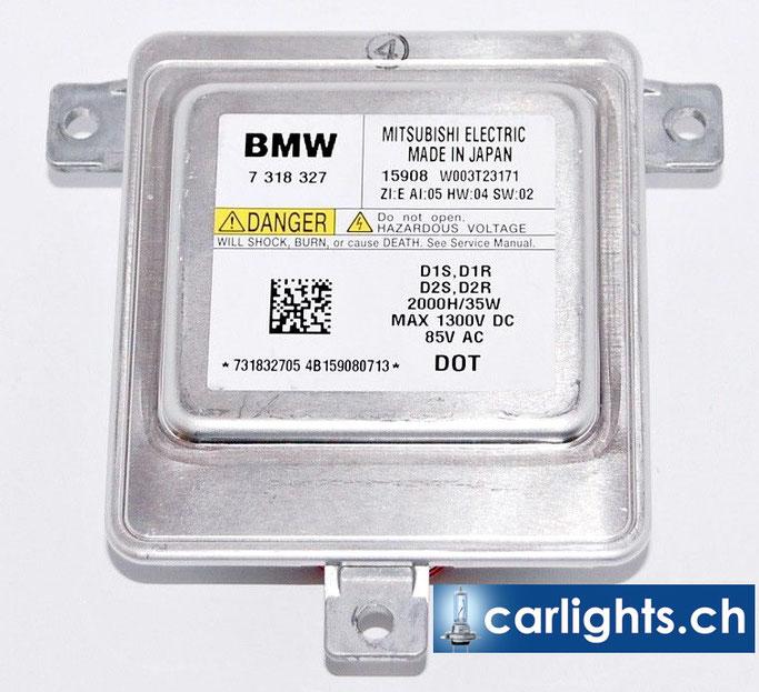 BMW Xenon Steuergerät MITSUBISHI ELECTRIC D1S 7318327 SCHEINWERFER Vorschalt-GERÄT  W003T23171 BALLAST D1S D2S