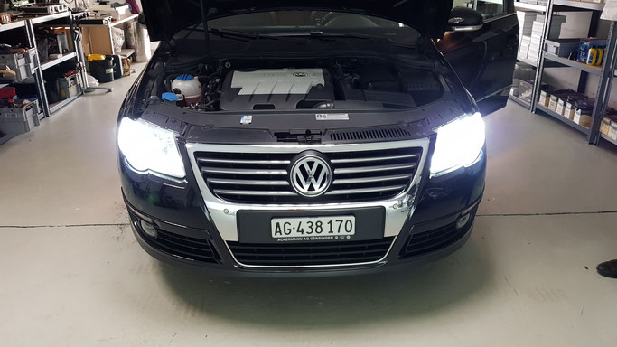VW Passat LED Umbau Abblendlich, Standlicht