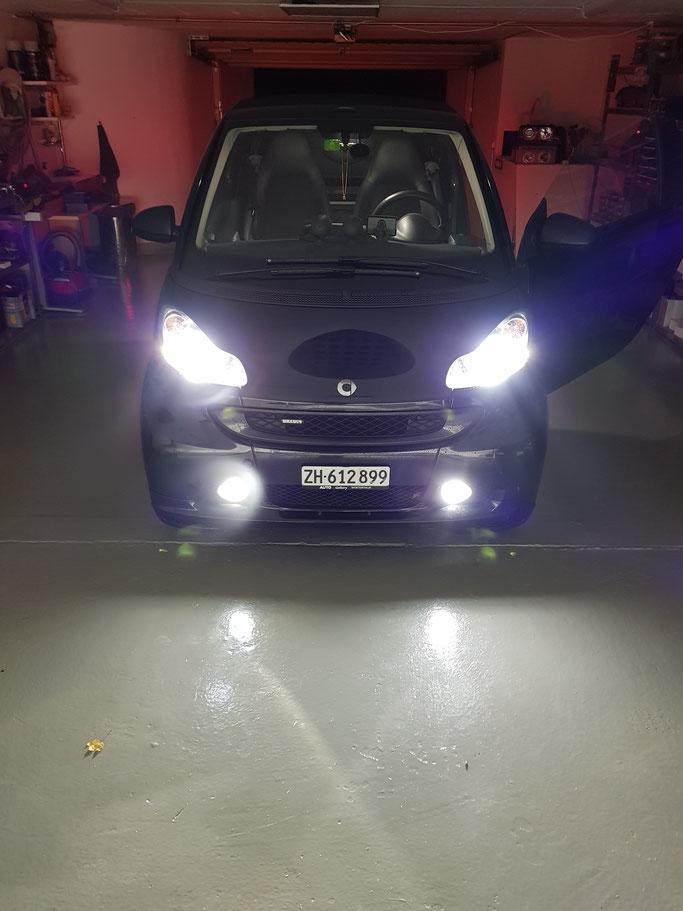 SMART ForTwo LED Abblendlicht H7 Nebbelicht H11