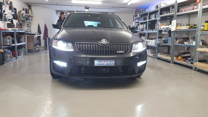 SKODA OCTAVIA RS LED UMBAU H7 PHILIPS XTREME ULTINON