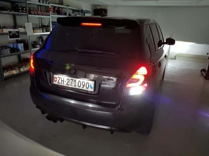 SKODA FABIA RS LED Rückfahrlicht und Nummerschild-Beleuchtung