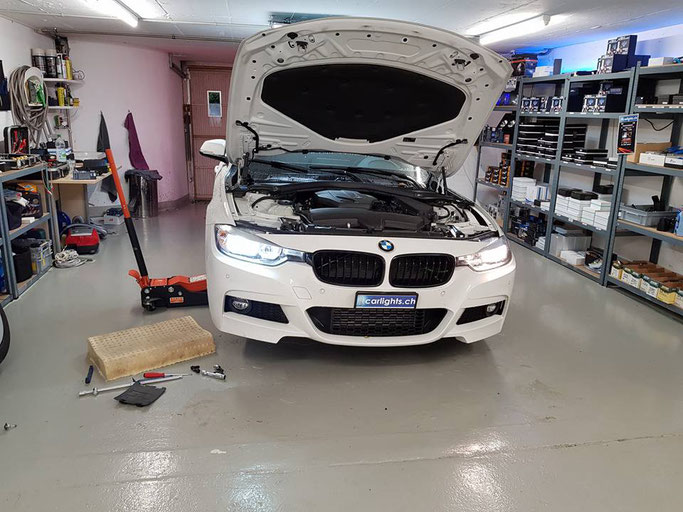 BMW 3er F31 LED Umbau Abblendlicht H7 Halogen auf LED Philips X-Treme Ultinon