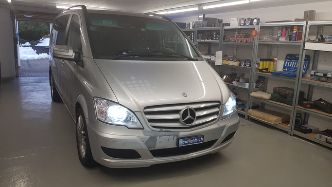 MERCEDES VIANO LED Umbau H7 LED Philips X-Treme Ultinon