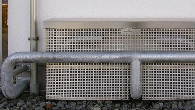Rammschutz von wichtigen Bauteilen