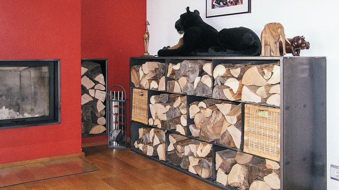 Brennholz Lagerschrank schwere Lasten