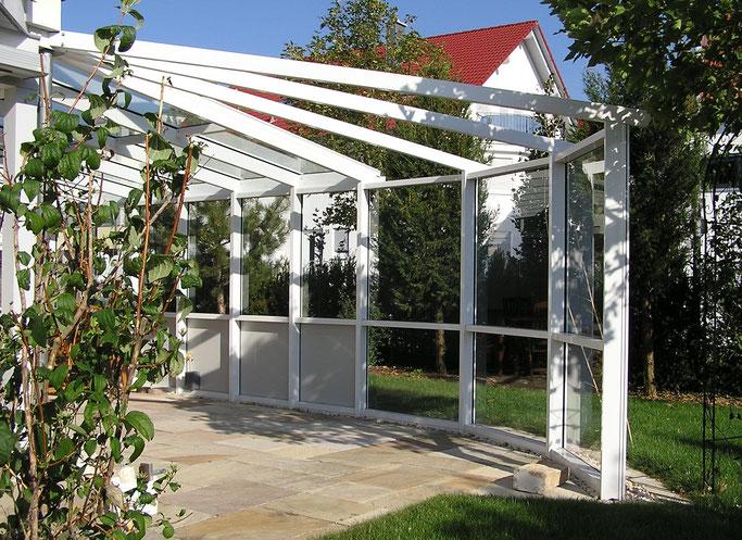 Wintergarten aus Aluminium-Profilen