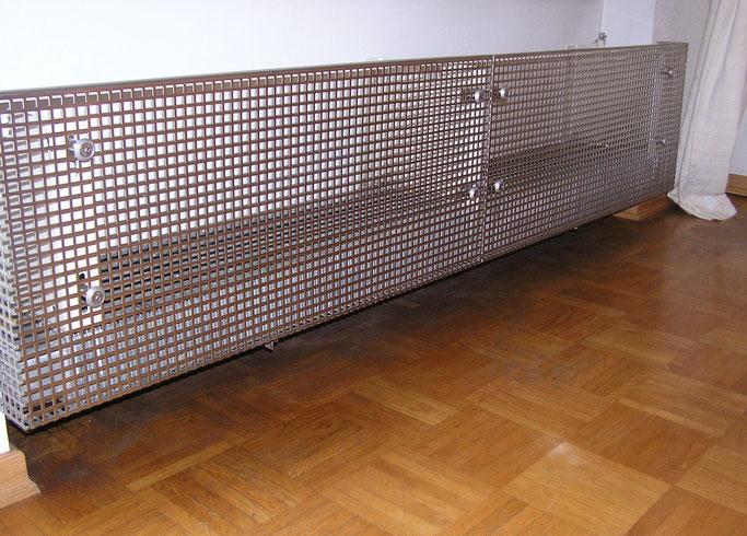 Edelstahl-Lochblech mit Quadrat-Lochung