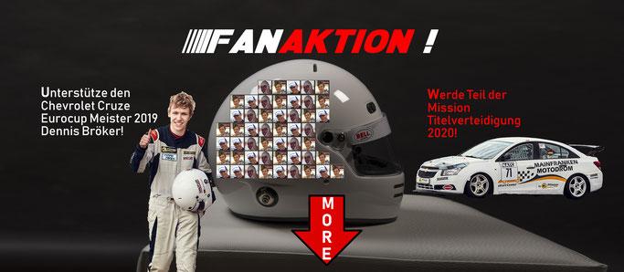 Sponsoring Fanaktion Helm Folierung 50€ Gönner Unterstützer Dennis Bröker 2020