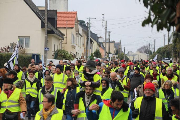 foto de La marche citoyenne de l acte VIII des gilets jaunes à