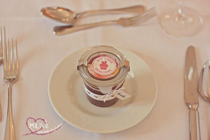 Hochzeits Give Away Kuchen im Weck Glas Stampin' Up!