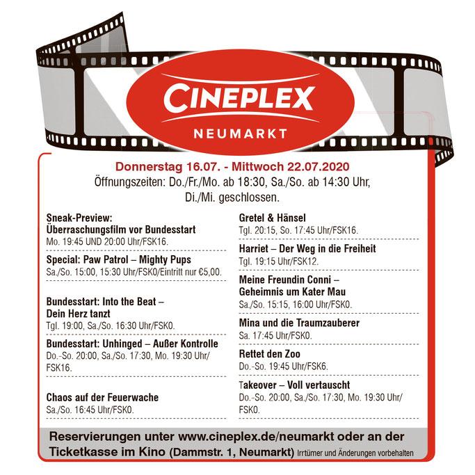Kinoprogramm Neumarkt Cineplex