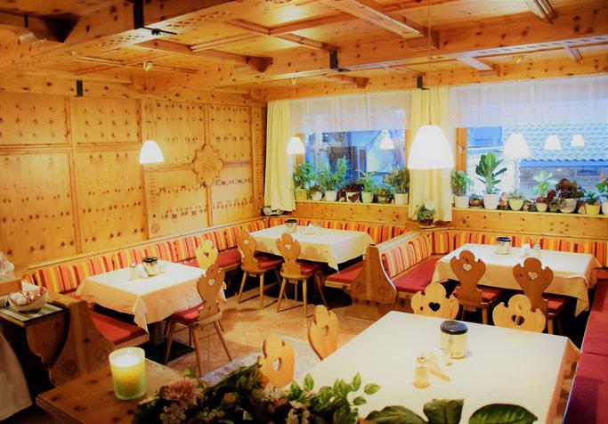 Frühstücksraum Apartments Gerlos