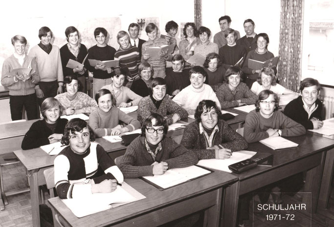 Letzter Jahrgang 1971/72 am Schulstandort Aschau