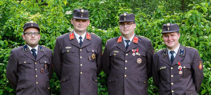 AW Kaser Lucas, HBI Schiffelhumer Hans-Peter, OBI Bruckmüller Manuel, AW Anzengruber Tobias