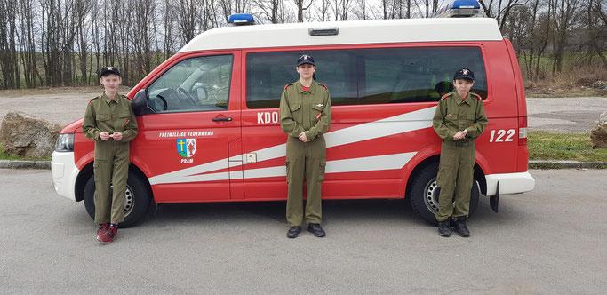 Links: Schlosser Andreas  /Mitte: Huber Samara  /Rechts: Fellinger Rudolf