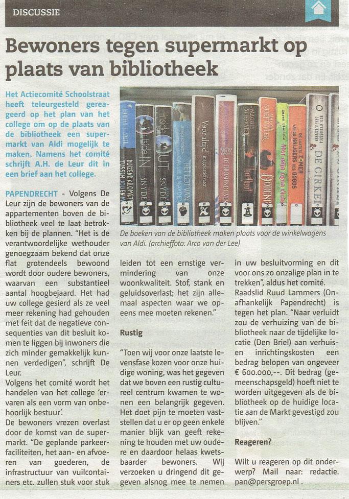 Artikel verschenen in het Papendrechts Nieuwsblad d.d. woensdag 21 juni 2017