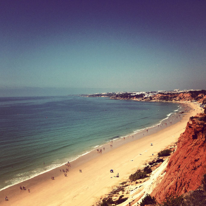 Praia da Falésia - walk up from the parking lot and enjoy this amazing view