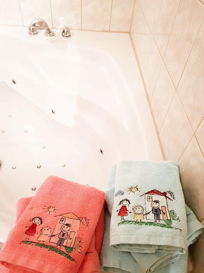 Handtücher für die Kinder. Wie schön