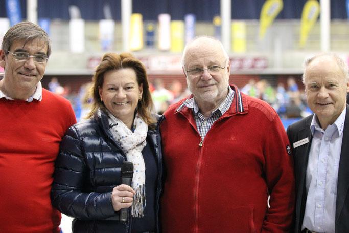Foto A. Promberger - vl Richard Balstedt, Vize Bgm Karin Hörzing, Turnierchef Günther Renner, Oberschiedsrichter Walter Wellinger