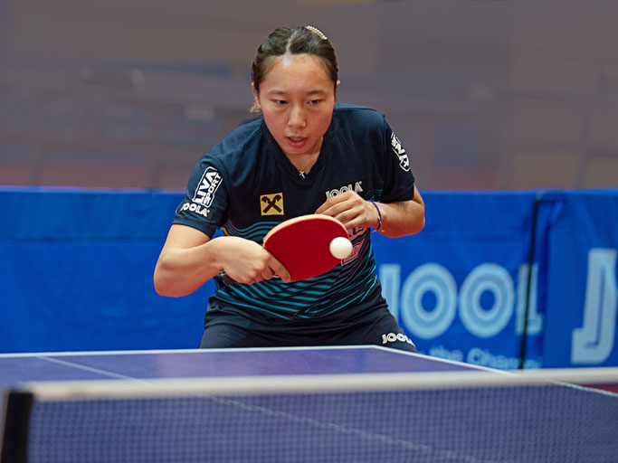 Seit einigen Tagen trainiert Minnie Soo in Linz, zeigte sich von den Bedingungen und den Teamkolleginnen begeistert. Von Tobias Hörtenhuber