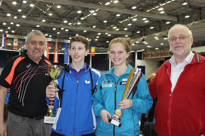 Sieger Linz Austria Raiffeisen Youth Championships 2017 - Junior Single Sieger Alicia Cote und Benno Öhme