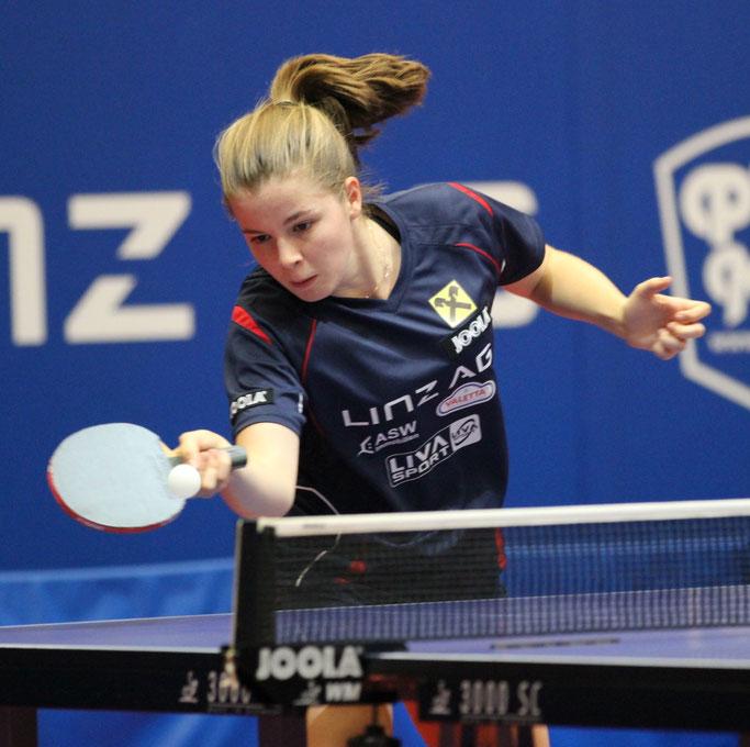 Aurelie Maienburg Tischtennisspielerin Club: LINZ AG Froschberg - B-Team