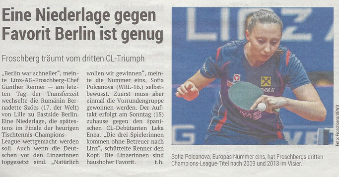 13.09.2019 Volksblatt