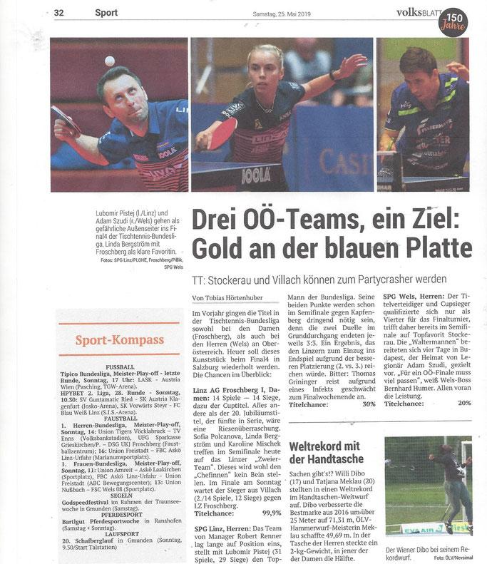 25.05.2019 Volksblatt