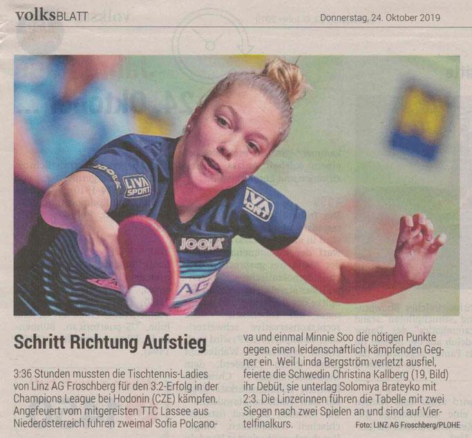 24.10.2019 Volksblatt