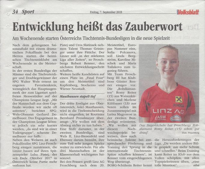 07.09.2018 Volksblatt