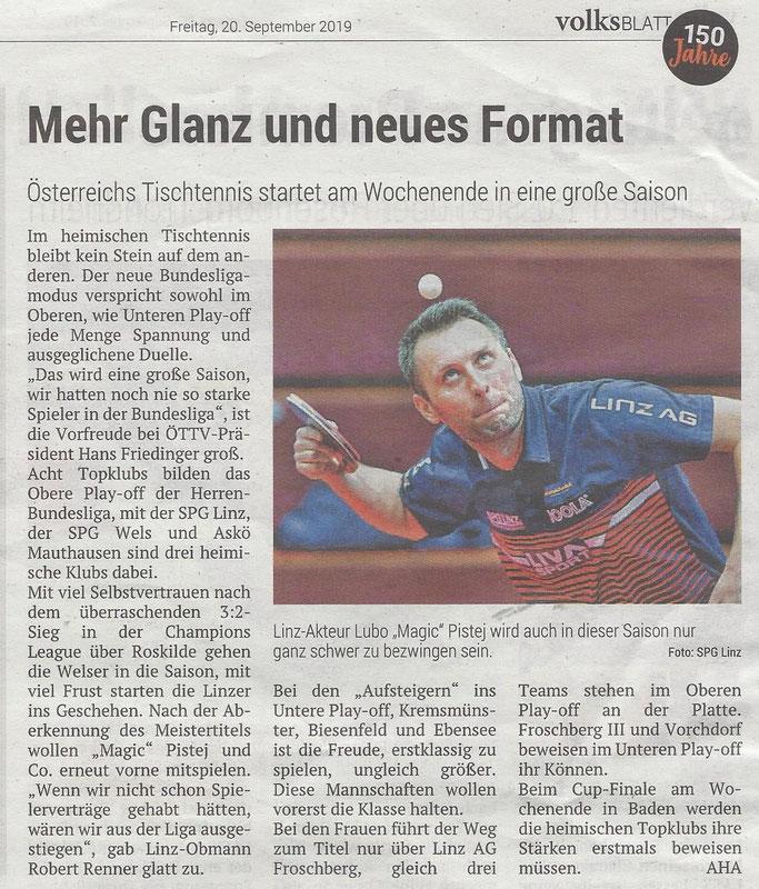 20.09.2019 Volksblatt
