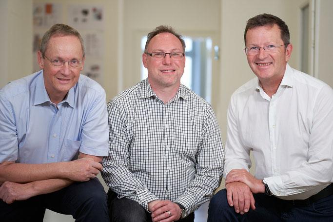 Gruppen-Bild von Christoph Kopp, Walter Feichtner und Volker Bienert von der Karriereberatung München