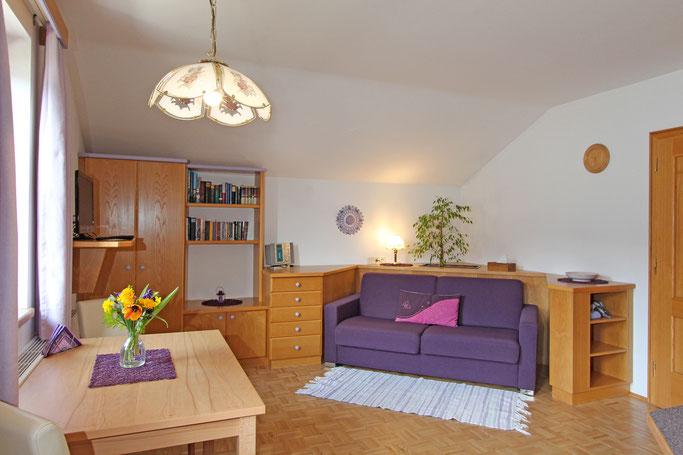 Haus Aichholzer - Neusach - Weissensee - Kaernten - Wohnung B - Wohnzimmer