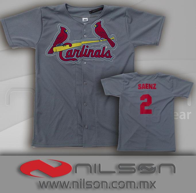 jersey beisbol camisola con aplicacion sublimada tipo parche bordado al rededor nilson