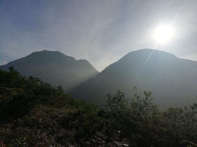スゴノ頭と越中沢岳
