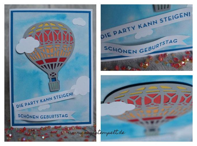 """Stampin´Up! """"In den Wolken"""" zum Geburtstag - Heißluftballon"""