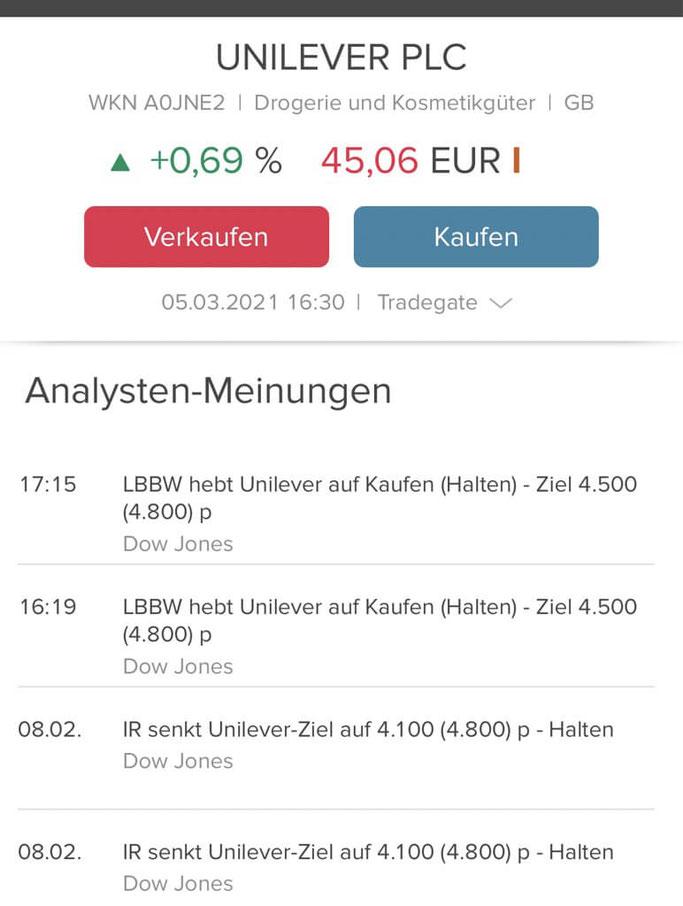 Consorsbank App Analysten Meinungen und Kursziele für die Aktien